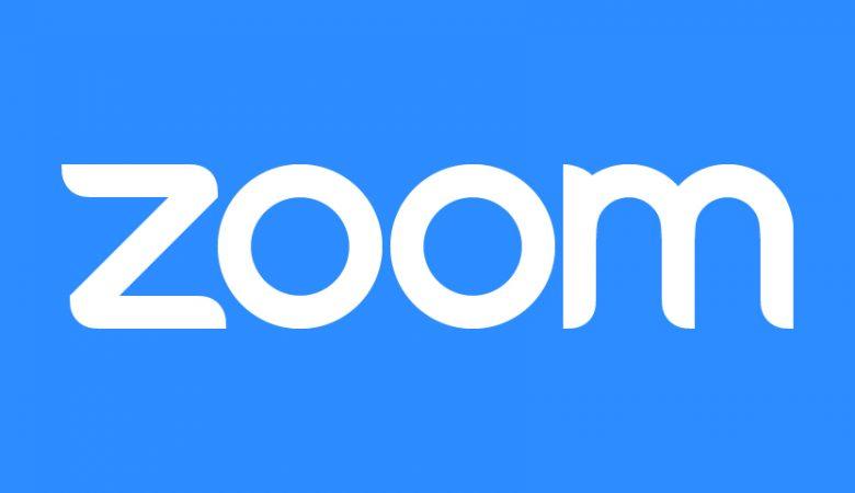 Zoom white on blue